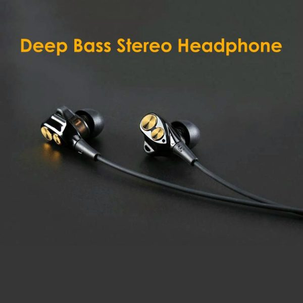 a3240678ea8 PTron Boom 2 4D Headphones Deep Bass Stereo Wired Headset For Smartphones  (Black/Gold)